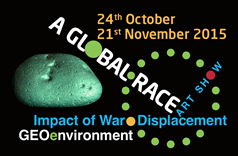 Impact of War Displacement, Geo enviroment art show